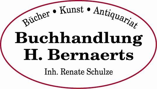 Das Logo der Buchhandlung, der Name in einem rotumrandeten Oval